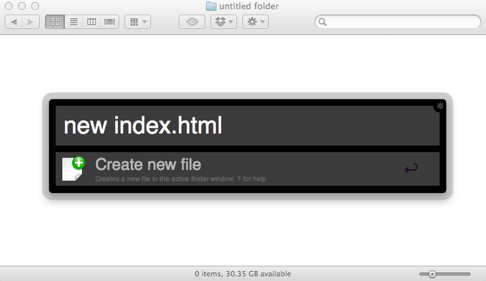 Providing a new file name to Alfred for the Finder's new file